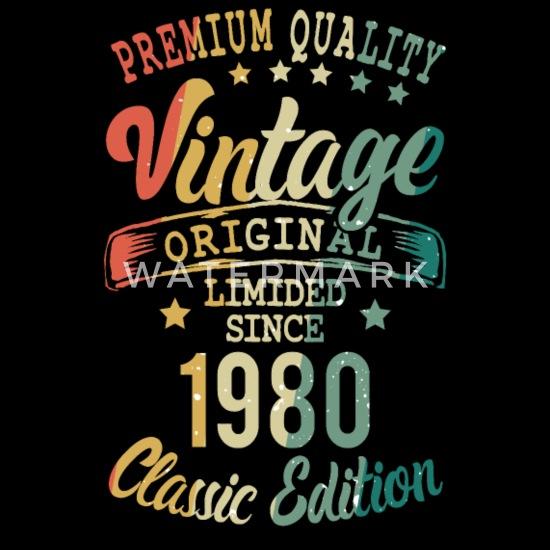 Geburtstag Geschenk Retro Vintage Style Langarmshirt 40 Jahrgang 1980