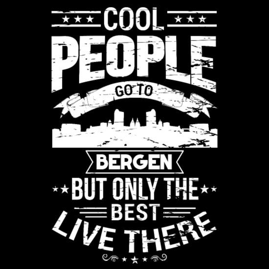 De beste menneskene fra Bergen, Norge Premium T skjorte for
