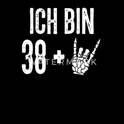 40 Ter Geburtstag Devil Horns Heavy Metal Manner Premium T Shirt