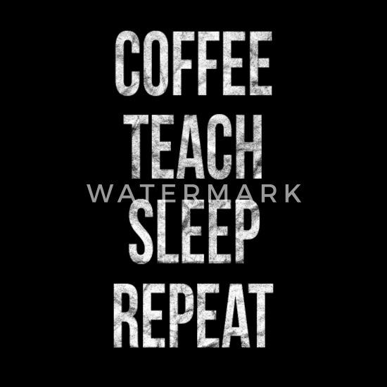 Kaffee Lehrer Schlafen Lustige Sprüche Männer Premium T Shirt Schwarz