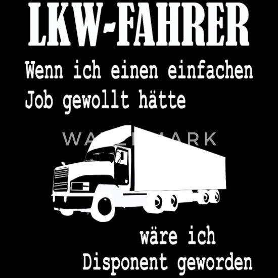 Lkw Fahrer Beruf Spruch Disponent Geschenk Männer Premium T Shirt Schwarz