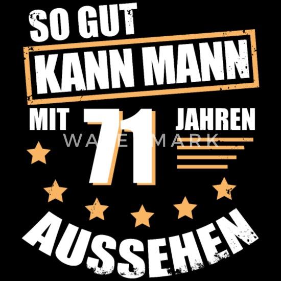 71 71 Geburtstag Geschenk Für Den Mann Männer Premium T