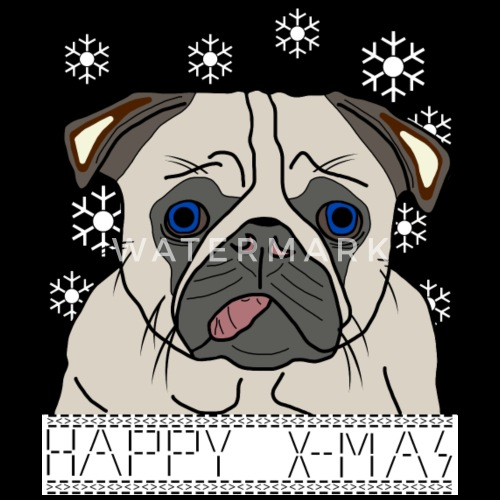 Pug Puppy Dog Funny Animals Christmas Snow By Danisch Brothers