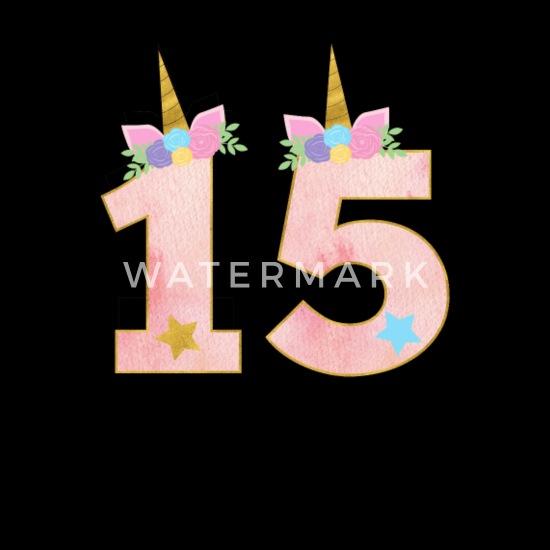 15 Jahre Einhorn 15 Geburtstag Mädchen Geschenk Männer