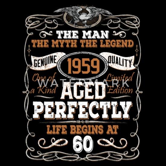 Wonderbaarlijk 60ste verjaardag 1959 zestig 60 jaar legende Mannen premium T MG-12