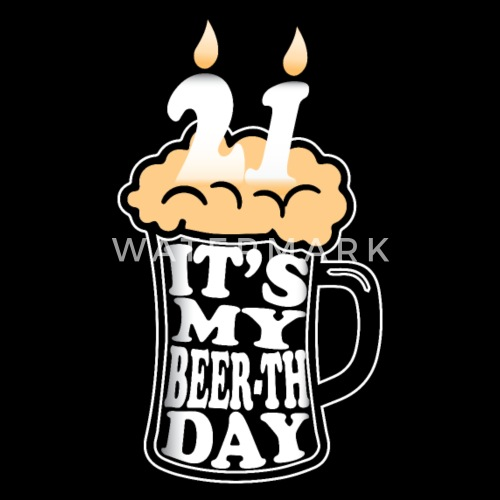 21st Birthday Gift 21 Years Old Party Beer Mens Premium T Shirt