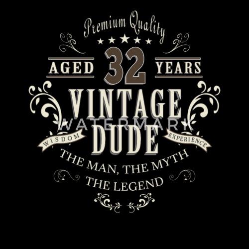 32ste Verjaardag Vintage T Shirt Cadeau Mannen Premium T Shirt