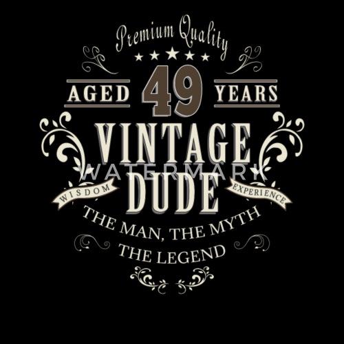 49ste Verjaardag Vintage T Shirt Cadeau Mannen Premium T Shirt