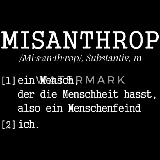 Misanthrop Sprüche