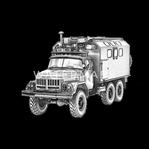 dfa8a066da46f6 ZIL 131 Russian military truck of the NVA Men s Premium T-Shirt ...