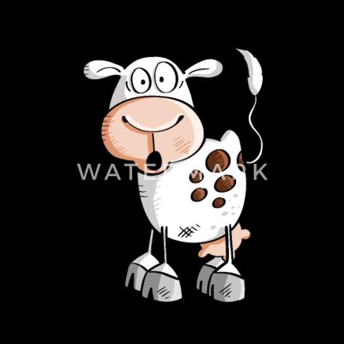 Vaca De Divertidos Dibujos Animados Vacas Camiseta Premium Hombre
