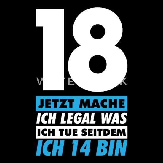 Lustig 18 Geburtstag Geschenk Männer Premium T Shirt Schwarz