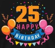 Feliz cumpleanos 25 hombre