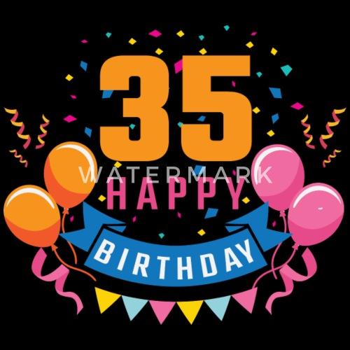 35 Ans 35 Ans Joyeux Anniversaire Cadeau T Shirt Premium Homme