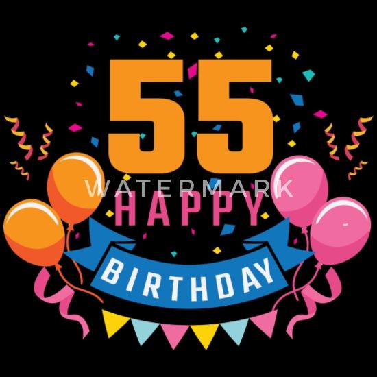 Verbazingwekkend 55ste verjaardag 55 jaar Gelukkige Gift van de Verjaardag Mannen YJ-69
