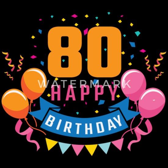 Nieuw 80th birthday 80 years Happy Birthday gift Men's Premium T-Shirt EX-55