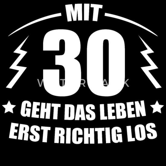 30 Geburtstag Geschenkidee Spruch Lustig Witzig Männer Premium T Shirt Schwarz
