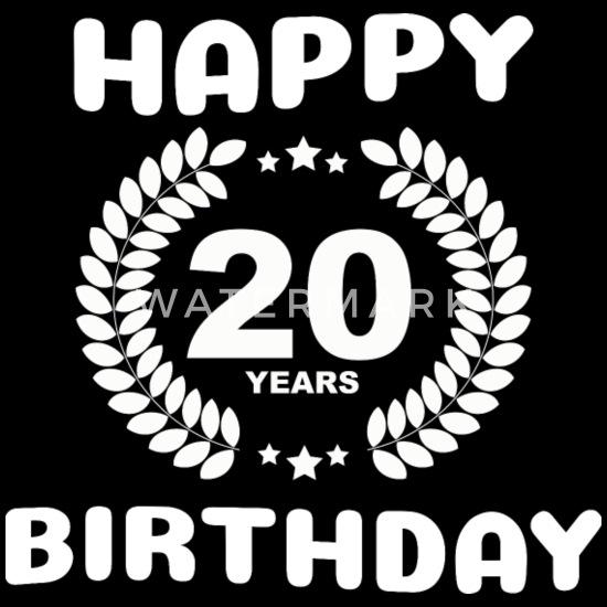 Verjaardag Man 20 Jaar.Gelukkige Verjaardag 20 Jaar Mannen Premium T Shirt