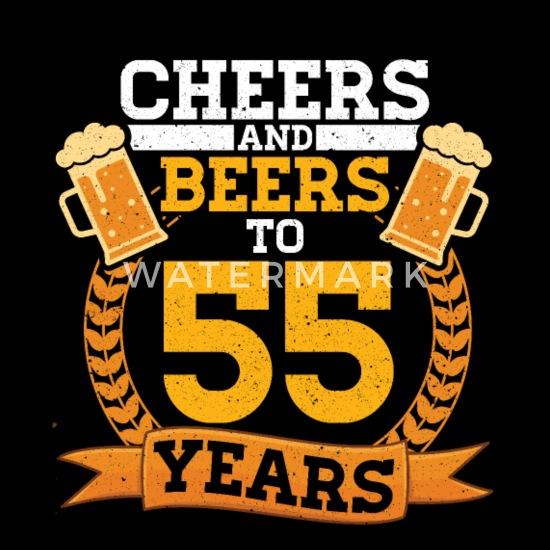 Verrassend Proost en bier tot 55 jaar grappige verjaardagscadeau Mannen NW-47