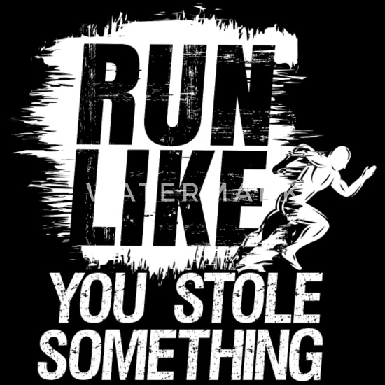 guarda bene le scarpe in vendita comprando ora meglio Run like you stole something runner running Men's Premium T ...