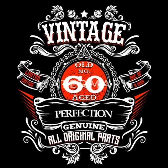 Nieuw Vintage 60 jaar verjaardag 1960's geschenk Limited Mannen premium DQ-87
