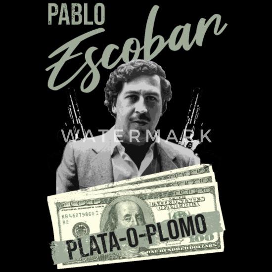 Pablo Escobar Plata O Plomo Männer Premium T Shirt Schwarz