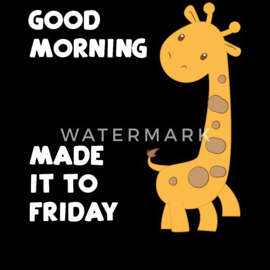 Giraffe Giraffen Guten Morgen Freitag Männer Premium T