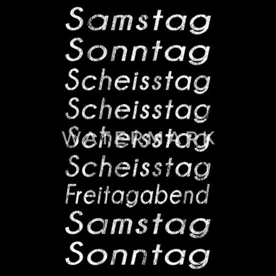Lustige Sprüche Wochentage Scheiß Montag Geschenk Männer Premium T Shirt Schwarz