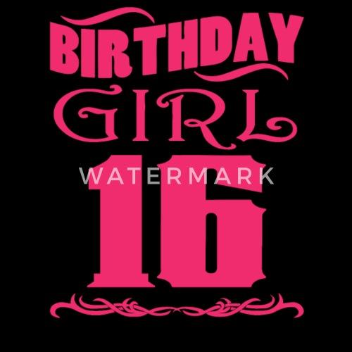 Verjaardag Meisje 16 Jaar Oud Mannen Premium T Shirt Spreadshirt