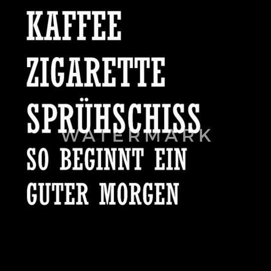 Guten Morgen Kaffee Spruch Geschenk Männer Premium T Shirt