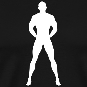 Naked And Muscular Man - Herre premium T-shirt