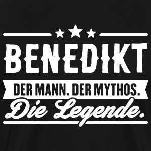 Man Myth Legend Benedict - Premium T-skjorte for menn
