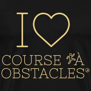 I love course à obstacles - T-shirt Premium Homme