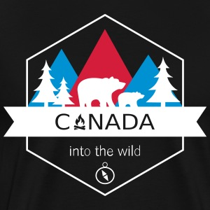 Canada Into the Wild - T-shirt Premium Homme