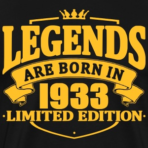 legends are born in 1933 - Men's Premium T-Shirt