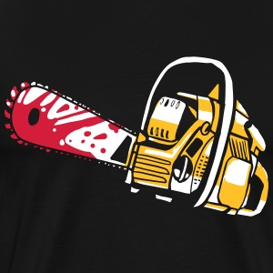 Chainsaw partnere Shirt - Papa - Herre premium T-shirt