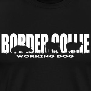 Border collie Brukshund - Premium-T-shirt herr