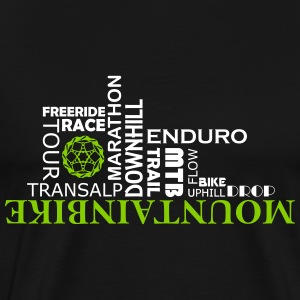 Mountainbike Words - Männer Premium T-Shirt