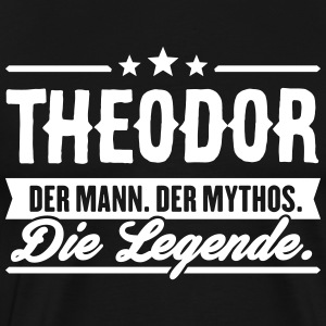 Man Myth Legend Theodor - Premium T-skjorte for menn