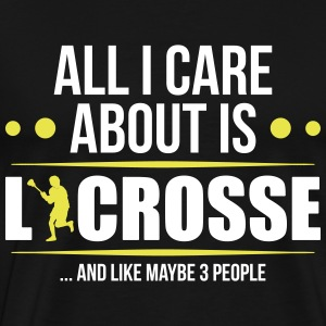 Care About Lacrosse - Männer Premium T-Shirt