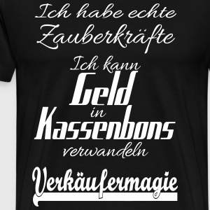 Verkopers magic: zet geld in ontvangsten - Mannen Premium T-shirt