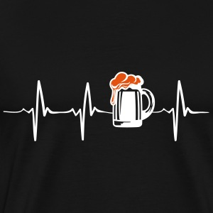 Beer in my heartbeat - octoberfest - drink - Men's Premium T-Shirt