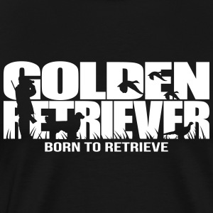 GOLDEN RETRIEVER born to retrieve - Men's Premium T-Shirt