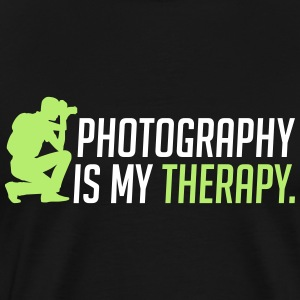 Photography is my therapy - therapy - Men's Premium T-Shirt