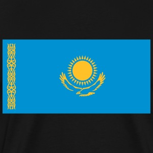 National Flag Of Kazakhstan - Herre premium T-shirt