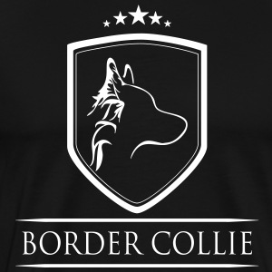 BORDER COLLIE COAT OF ARMS - Men's Premium T-Shirt