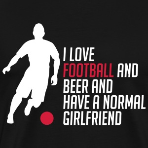 I love football and beer and girl - Men's Premium T-Shirt