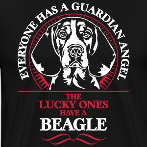 GUARDIAN ANGEL BEAGLE - Premium-T-shirt herr