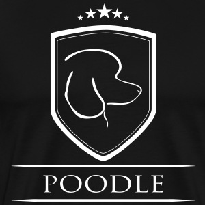 POODLE COAT OF ARMS - Men's Premium T-Shirt
