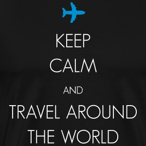 Keep calm and travel around the world - Men's Premium T-Shirt